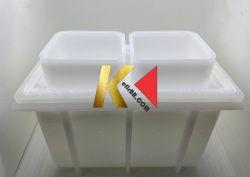 Forma plástica para produção de queijo (Retangular 500g)