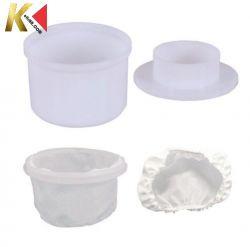 Forma plástica para produção de queijo ( Redonda 1 kg)