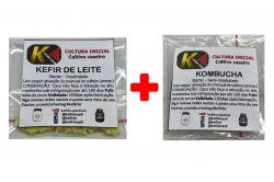 COMBO 3 - KEFIR DE LEITE + KOMBUCHÁ