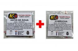 COMBO 2 - KEFIR DE ÁGUA + KOMBUCHÁ MUSHROOM
