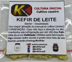 Kefir de Leite + Pote  + Colher  (FRETE GRÁTIS)