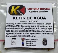 Kefir de Água + Pote  + Colher  (FRETE GRÁTIS)